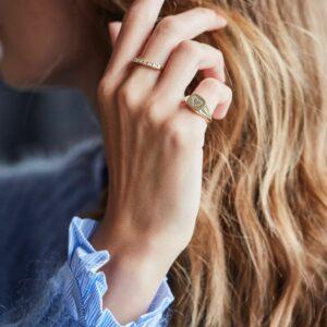 Rå | Classic Diamant ring, aligned 18 karat JUWELS.DK