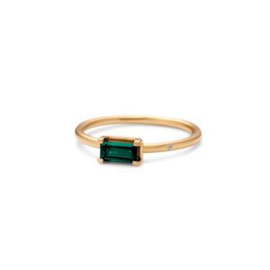 Nord | Green ring, S 18 karat JUWELS.DK