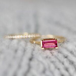 Nord | Pink ring, S 18 karat JUWELS.DK