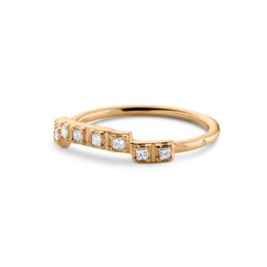 Rå   Classic Diamant ring, curve 18 karat JUWELS.DK