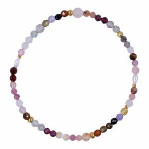 Multicoloured Precious Gems | Rose Ædelsten armbånd i lyserød