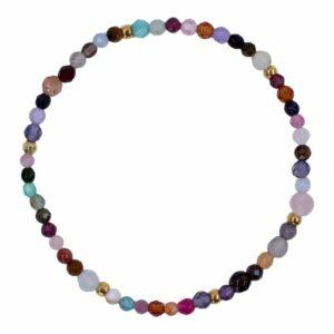 Multicoloured Precious Gems | Autumn 3 Ædelsten armbånd i multi