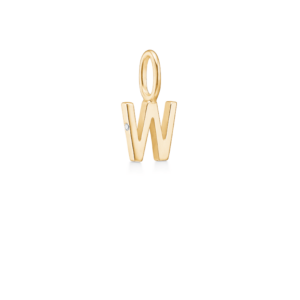 My Collection   W vedhæng 18 karat bogstaver i guld
