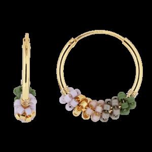 Sanne ørering  – Green Dream/Gold Boheme JUWELS.DK