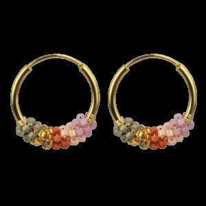 Sanne ørering  – Pink Crush/Gold Boheme JUWELS.DK