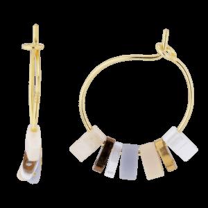 Limone ørering  – White/Gold Boheme JUWELS.DK