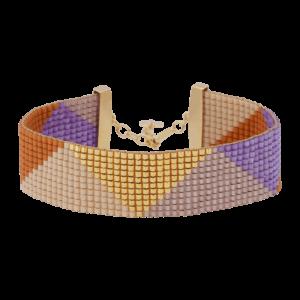 Camilla armbånd – Purple Rain/Gold Armbånd JUWELS.DK