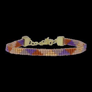 Nancy armbånd – Purple Rain/Gold Armbånd armbånd i forgyldt sølv