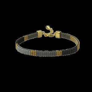Alma armbånd – Black/Gold Armbånd armbånd i forgyldt sølv