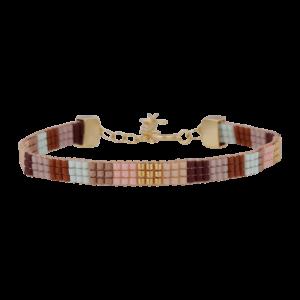 Jane armbånd – Brown/Gold Armbånd armbånd i forgyldt sølv