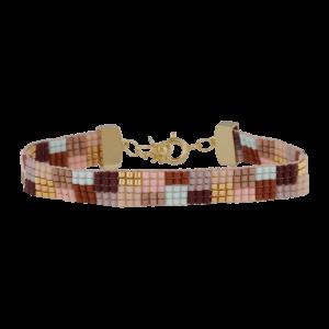 Jeannie armbånd – Brown/Gold Armbånd armbånd i forgyldt sølv