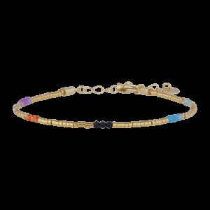Sissi armbånd – Multi/Gold Armbånd armbånd i forgyldt sølv