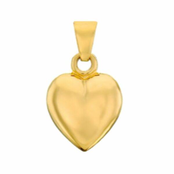 Hjertevedhæng – 8 kt guld (10×10 mm) 8 karat hjerte