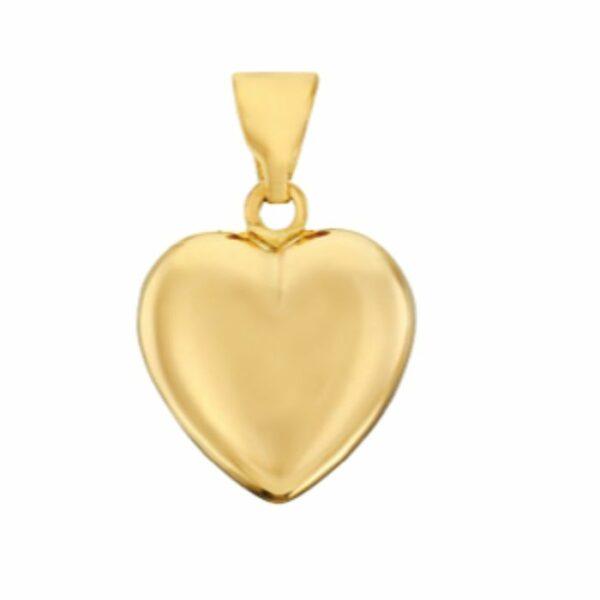 Hjertevedhæng – 8 kt guld (15×15 mm) 8 karat JUWELS.DK