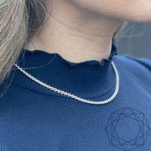 Halskæde – 925 sterlingsølv (rund anker 2,3 mm) BNH halskæde i sølv