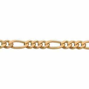 Halskæde – 925 forgyldt sølv (figaro 2,8 mm) BNH JUWELS.DK