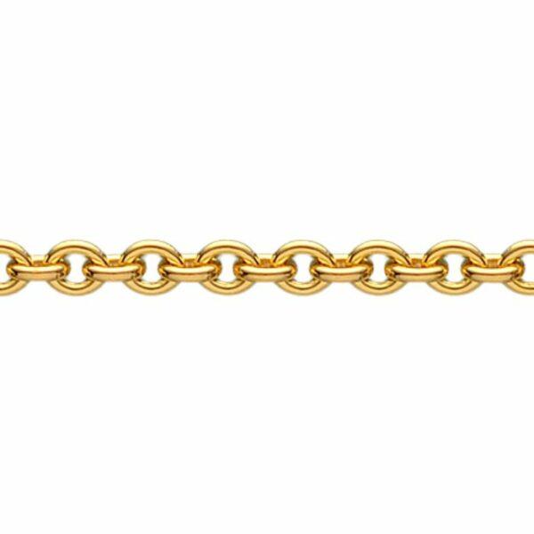 Halskæde – 14 kt guld (rund anker 1,2 mm) 14 karat JUWELS.DK