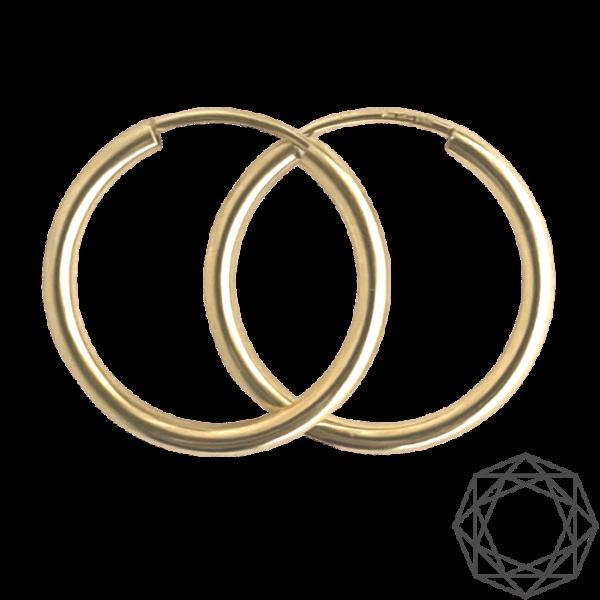 Creoler – 14 kt guld (2mm/20mm) 14 karat JUWELS.DK