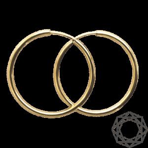 Creoler – 14 kt guld (2mm/30mm) 14 karat JUWELS.DK