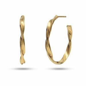 The Twist | Snoede øreringe – Forgyldt (2,0 cm) Carré JUWELS.DK