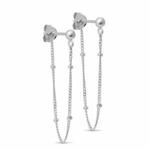 Bea ørering – Sølv Boheme lang ørering i sølv