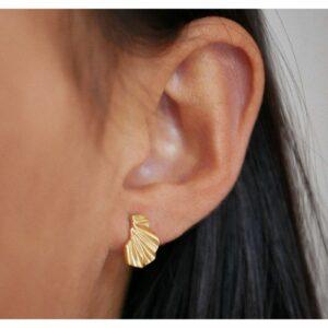 E151GM-enamel-forgyldt-sølv-ørering-mini-wave-pige-2