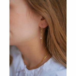 Lilja øreringe – Forgyldt Boheme JUWELS.DK