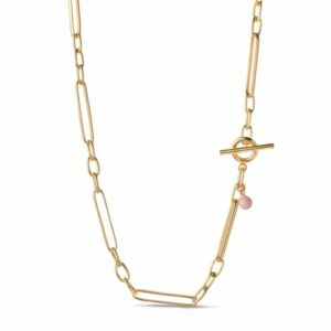 Vilde halskæde – Forgyldt Enamel halskæde i forgyldt sølv