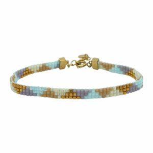Nancy armbånd – Pastel Love/Gold Armbånd armbånd i forgyldt sølv