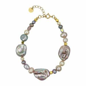 Pam armbånd – Lavender/Gold Armbånd JUWELS.DK
