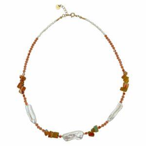 Pernille halskæde – Blossom/Gold Boheme halskæde i forgyldt sølv