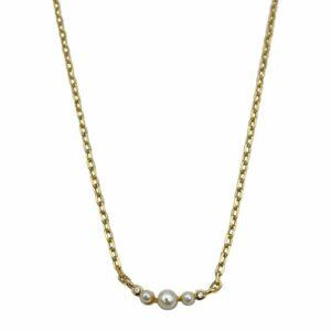 Vera halskæde – Pearl/Gold Boheme JUWELS.DK