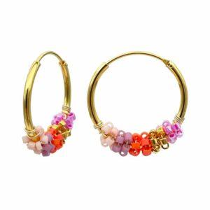 Sanne øreringe  – Coral Love/Gold Boheme JUWELS.DK