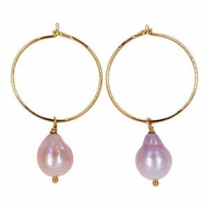 Caramel freshwater pearls Beige JUWELS.DK