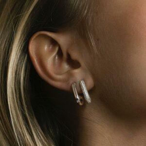 Capri Piccolo Pianura   Øreringe – sølv Hoops hoops i sølv