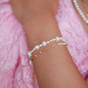 Pearlie armbånd Armbånd armbånd i forgyldt sølv