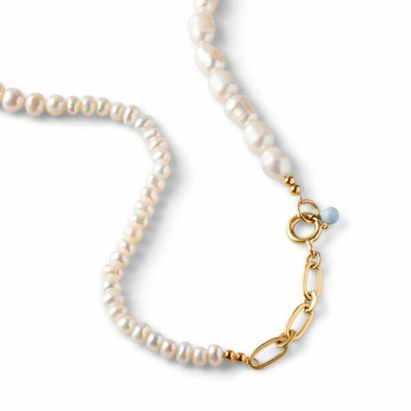 Pearlie halskæde Enamel halskæde i forgyldt sølv