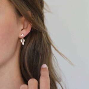 Fryd | White vedhæng til ørering, single 18 karat JUWELS.DK