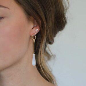 Fryd | White vedhæng til ørering, S, single 18 karat JUWELS.DK