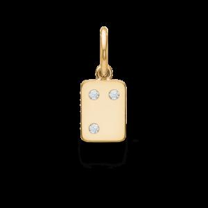 My Secret | M vedhæng 18 karat bogstaver i guld