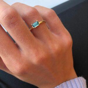 Nord   Green ring S 18 karat ring i grøn