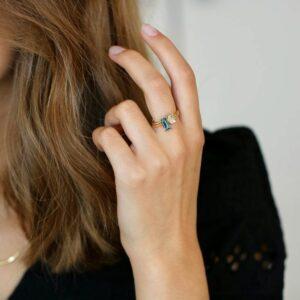 Nord | London Blue ring, turned 18 karat JUWELS.DK