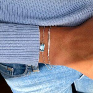 Nord | London Blue armbånd 18 karat armbånd i hvidguld