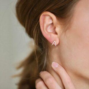 Rock | Heart diamant ørering, L, single 18 karat JUWELS.DK