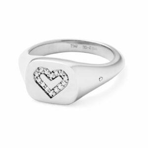 Rock | Solid heart signetring 18 karat JUWELS.DK
