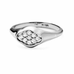 Rock | Signetring 18 karat ring i hvidguld