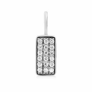 Rock | Square diamant vedhæng 18 karat JUWELS.DK