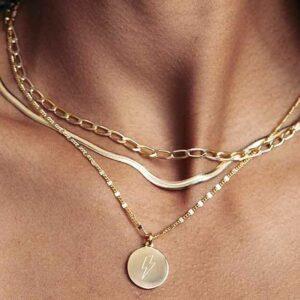 Brillare | Halskæde – sølv Forgyldt sølv JUWELS.DK