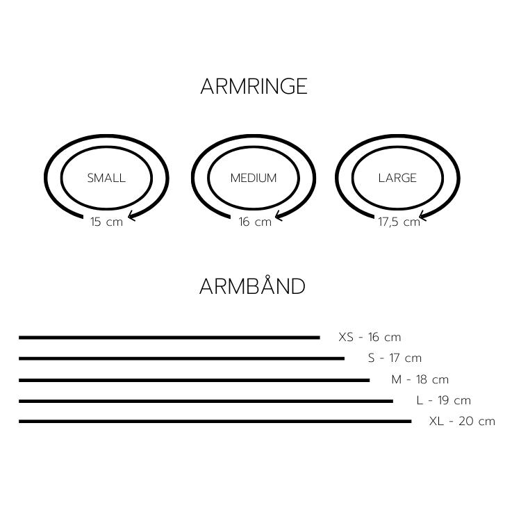 Størrelsesguide til hvordan man kan vælge den rigtige længde armbånd